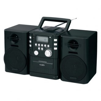 Jensen® - Portable CD Music System with Cassette and FM Stereo Radio