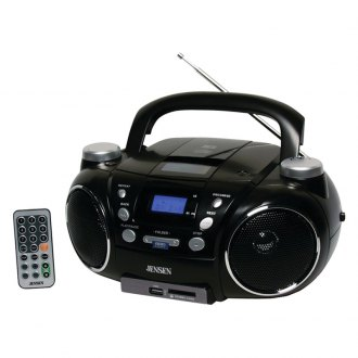Jensen® - Portable AM/FM Stereo CD Player with MP3 Encoder/Player