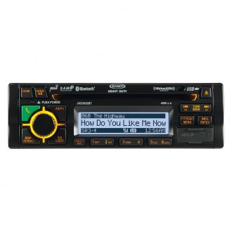 Jensen® - Single DIN CD/AM/FM/WB/MP3/WMA SiriusXM Stereo Receiver with Built-In Bluetooth
