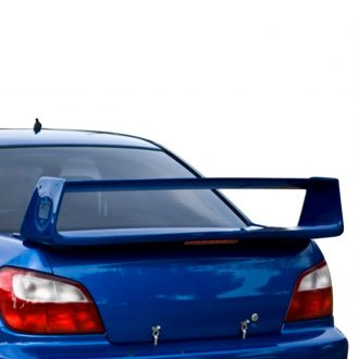 JKS® - Factory Style Fiberglass Rear Spoiler with Light (Unpainted)