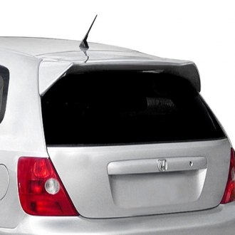 JKS® - Custom Style Fiberglass Rear Roof Spoiler with Light