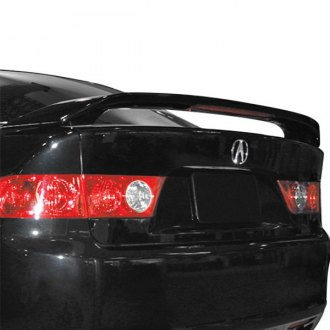 2004 acura tsx spoilers custom factory lip wing spoilers jks factory style rear spoiler with light sciox Images