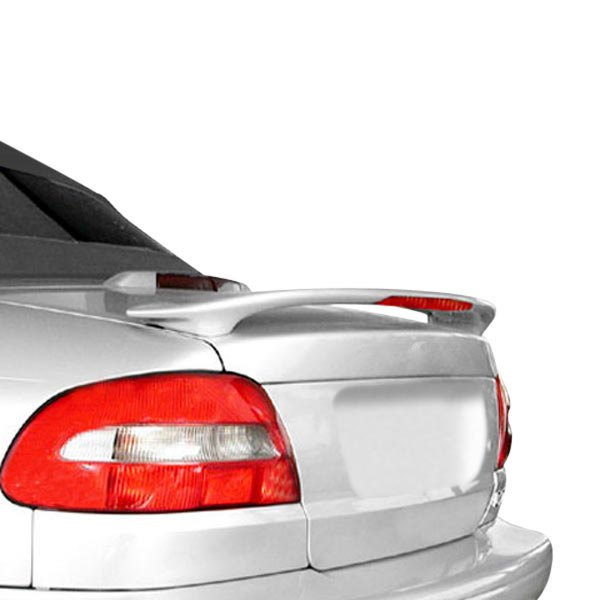 JKS® - Custom Style. Fiberglass Rear Wing Spoiler with Light (Painted)