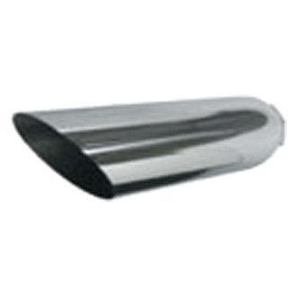 Jones Exhaust® - Stainless Steel 15 Degree Angle Cut Chrome Exhaust Tip