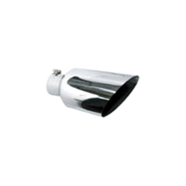 "Polished Stainless Bolt On Angle Cut Roll Exhaust Tip 5/"" Inlet 7/"" Outlet 15/""Long"