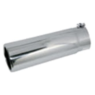 Jones Exhaust® - Stainless Steel Pencil Style Round Straight Cut Exhaust Tip