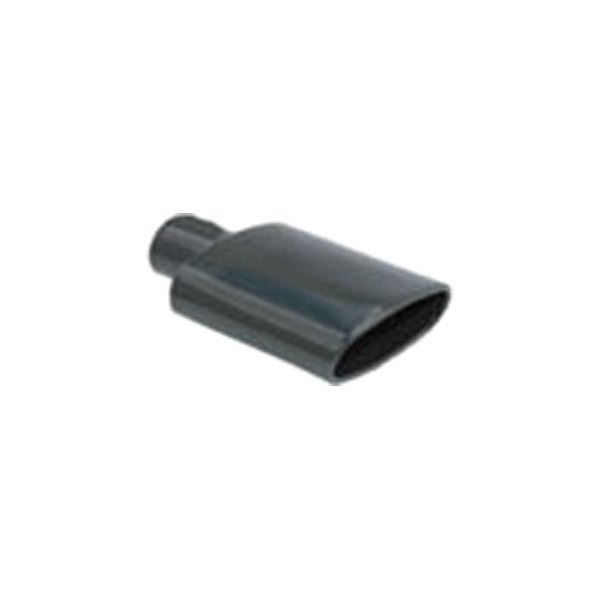 """Stainless Steel Exhaust Tip 2.25/"""" In Rolled Oval Angle 6/"""" x 2.5/"""" Out"""