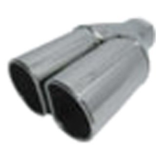 Jones Exhaust® - Stainless Steel D-Style Dual Exhaust Tip