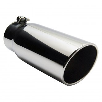 Jones Exhaust® - Stainless Steel Vented Rolled Edge Angle Cut Bolt-On Exhaust Tip