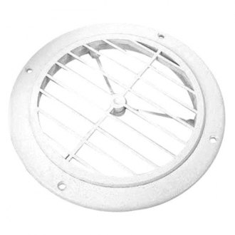 JR Products® - Colonial White 5 inch Round Ceiling Register without Damper