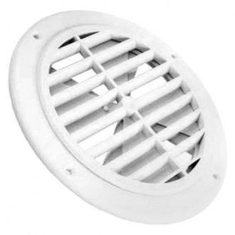 JR Products® - Polar White 5 inch Round Ceiling Register without Damper