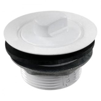 "JR Products® - Polar White 2"" Tub Drain with Stopper"