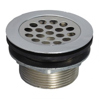 JR Products® - Grid Locknut and Rubber Washer Sink Strainer