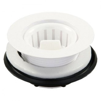 JR Products® - White Screw In Plastic Strainer