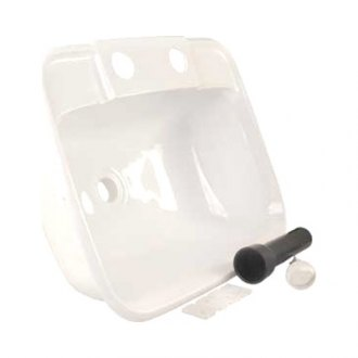"JR Products® - White 14-1/4""x11-1/4"" Drop-In Plastic Sink Kit"
