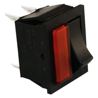 JT&T® - 16A/12V S.P.S.T. Light and Rocker Combination Red Light and On/Off Rocker Switch