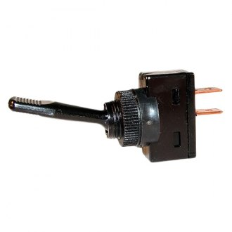 JT&T® - 20A/12V Black S.P.S.T. Non-Illuminated Momentary On/Off Toggle Switch