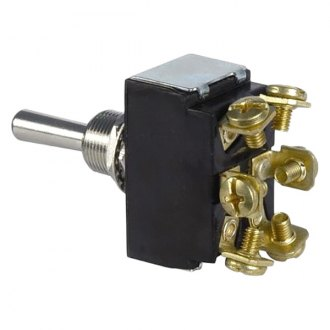JT&T® - 30A/12V D.P.D.T. Heavy Duty 2-Way Momentary On/Off/Momentary On Toggle Switch with 6 Screw Terminals