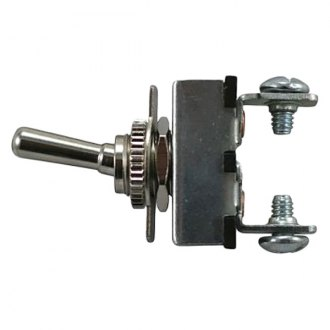 JT&T® - 20A/12V S.P.S.T. Heavy Duty On/Off All Metal Toggle Switch with Two Screw Terminals