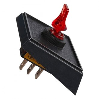 JT&T® - 20A/12V S.P.S.T. Illuminated On/Off Red Duckbill Switch in Panel Mount Combination