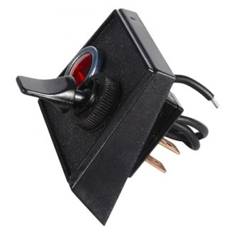 JT&T® - 20A/12V S.P.S.T. Non-Illuminated On/Off Black Duckbill Switch and Red Indicator Light in Panel Mount Combination