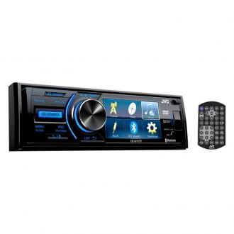 "JVC® - Single DIN DVD/CD/AM/FM/MP3/WMA Receiver with 3"" Display"