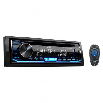 JVC® - Single DIN CD/AM/FM/MP3/WMA/FLAC Receiver with Built-In Bluetooth, SiriusXM Ready and Pandora Support