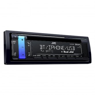 JVC® - Single DIN CD/AM/FM/MP3/WMA/AAC/FLAC Receiver with Built-In Bluetooth and Pandora Support