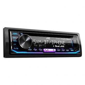 JVC® - Single DIN CD/AM/FM/MP3/WMA/FLAC Receiver with Built-In Bluetooth and SiriusXM Ready