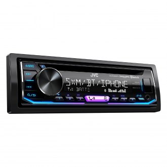 JVC® - Single DIN CD/AM/FM/MP3/WMA/AAC/FLAC Receiver with Built-In Bluetooth, SiriusXM Ready and Pandora Support