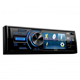 "JVC® - Single DIN DVD/CD/AM/FM/MP3/WMA Receiver with 3"" Display and Rear Camera Input"