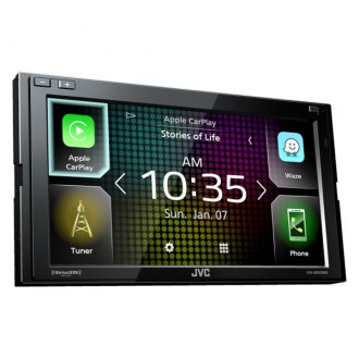 "JVC® - Double DIN AM/FM/MP3/WMA/FLAC/AAC/MP4/AVI Digital Media Receiver with 6.8"" Touchscreen Display and Built-In Bluetooth, Apple CarPlay, Wireless Android Auto, WebLink, High-Resolution Audio, iDatalink Maestro Ready, 13-Band EQ"