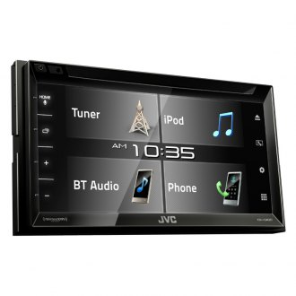 "JVC® - Double DIN DVD/CD/AM/FM/MP3/WMA/AAC/FLAC Receiver with 6.8"" Touchscreen Display, Built-In Bluetooth and SiriusXM Ready and iDatalink Maestro Ready, 13-Band EQ, JVC Remote App Compatibility"