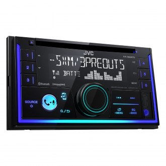 JVC® - Double DIN CD/AM/FM/MP3/WMA/AAC/FLAC Receiver with Built-In Bluetooth, SiriusXM Ready and Pandora Support