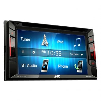 "JVC® - Double DIN DVD/CD/AM/FM/MP3/WMA/FLAC/AAC Receiver with 6.2"" Touchscreen Display Built-In Bluetooth"