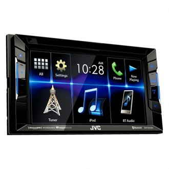 "JVC® - Double DIN DVD/CD/AM/FM/MP3/WMA/AAC Receiver with 6.2"" Touchscreen Display Built-In Bluetooth and SiriusXM Ready"