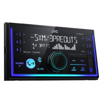 JVC® - Double DIN AM/FM/MP3/WMA/AAC/FLAC Digital Media Receiver with Built-In Bluetooth, SiriusXM Ready and Pandora Support