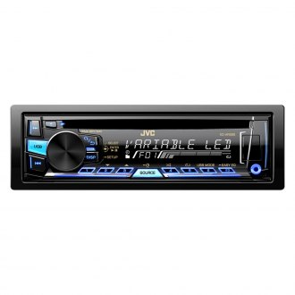 JVC® - Single DIN CD/USB Receiver with Aux Input, USB Port and Detachable Faceplate