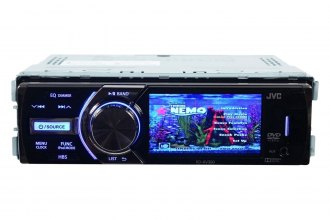 "JVC® - 3"" Single DIN LCD DVD/CD/USB/Aux/Remote Control Receiver"