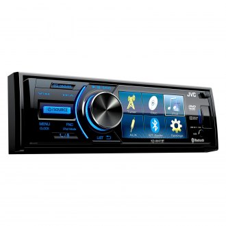 "JVC® - Single DIN DVD/CD/AM/FM/MP3/WMA Receiver with 3"" Display Built-In Bluetooth and Rear Camera Input"