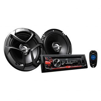 "JVC® - Single DIN CD/AM/FM/MP3/WMA Receiver with 6.5"" 2-Way Speaker and Bluetooth"