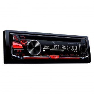 JVC® - Single DIN CD/AM/FM/MP3/WMA Receiver with Aux Input, USB Port and Detachable Faceplate