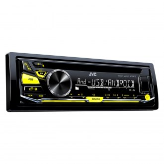 JVC® - Single DIN CD/AM/FM/MP3/WMA Receiver with Aux Input, USB Port, Detachable Faceplate and Variable Color Illumination