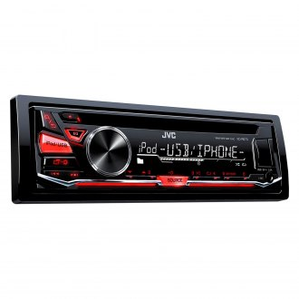 JVC® - Single DIN CD/AM/FM/MP3/WMA Receiver with Aux Input, USB Port, Detachable Faceplate and Pandora Control