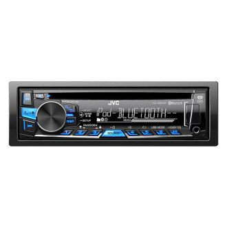 JVC® - Single DIN CD/MP3/USB/AM/FM Receiver with Bluetooth Remote