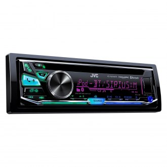 JVC® - Single DIN CD/AM/FM/MP3/WMA Receiver with Built-In Bluetooth, Pandora Control, iHeartRadio Compatibility, SiriusXM Ready and Front and Rear USB Input