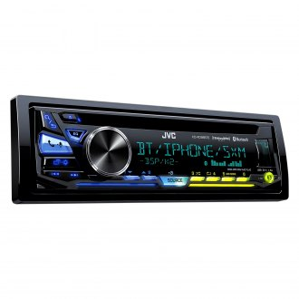 JVC® - Single DIN CD/AM/FM/MP3/WMA/FLAC/AAC/WAV Receiver with SiriusXM Ready, Built-In Bluetooth, iPhone®/Android™ Music Playback and Pandora / iHeartRadio Support