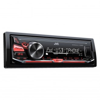 JVC® - Single DIN AM/FM/MP3/WMA/FLAC In-Dash Receiver with Pandora and iHeartRadio