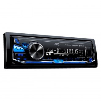 JVC® - Single DIN AM/FM/MP3/WMA/FLAC In-Dash Receiver with Built-In Bluetooth, Pandora, iHeartRadio and Sirius XM Ready