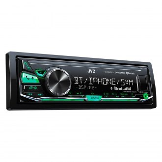 JVC® - Single DIN AM/FM/MP3/WMA/FLAC/AAC/WAV Digital Media Receiver with Built-In Bluetooth, SiriusXM Ready, iPhone®/Android™ Music Playback, Pandora and iHeartRadio Support